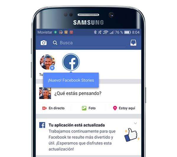 Ya está disponible la nueva herramienta de Facebook Stories