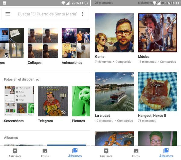 Google fotos álbumes compatidos
