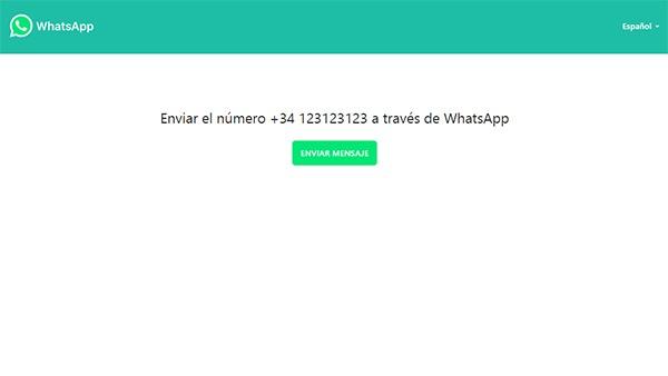 whatsapp pinchar chatear ejemplo