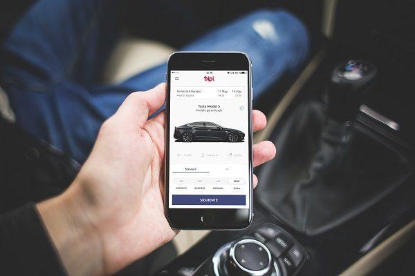 Bipi, una app para alquilar un Tesla por horas
