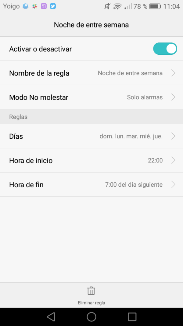 silenciar notificaciones android nativo