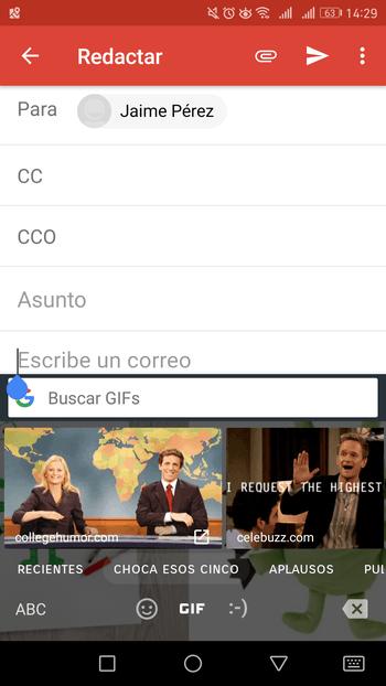 Buscador GIF de Google Gboard