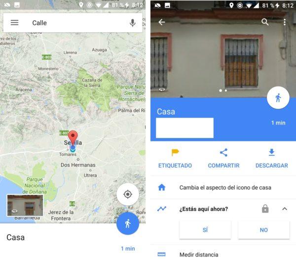 zona casa google maps