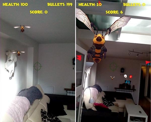 bee ready juego realidad aumentada