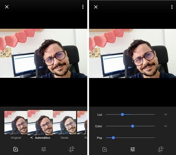 edita imagenes con google fotos