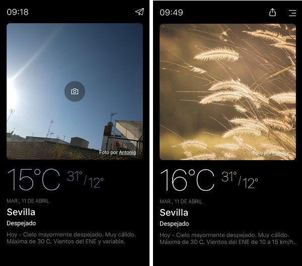 imagenes personalizadas con today weather