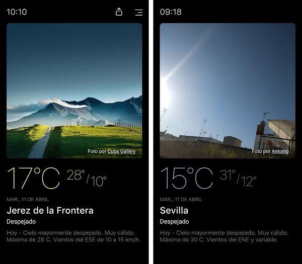 Conoce today weather una aplicaci n del tiempo muy for Aplicacion del clima