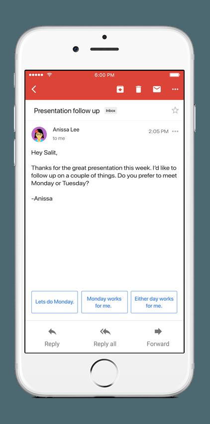 Así funcionan las respuestas inteligentes en Gmail