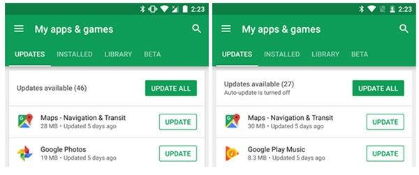 Google Play Store oculta novedades