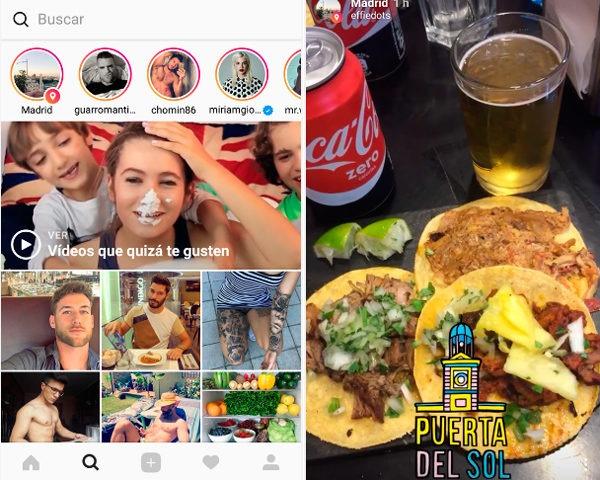 Instagram Localización Madrid