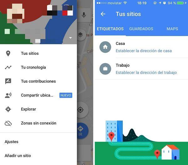 google maps sitios