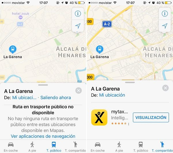 apple maps mytaxi