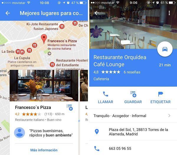 google maps reseñas