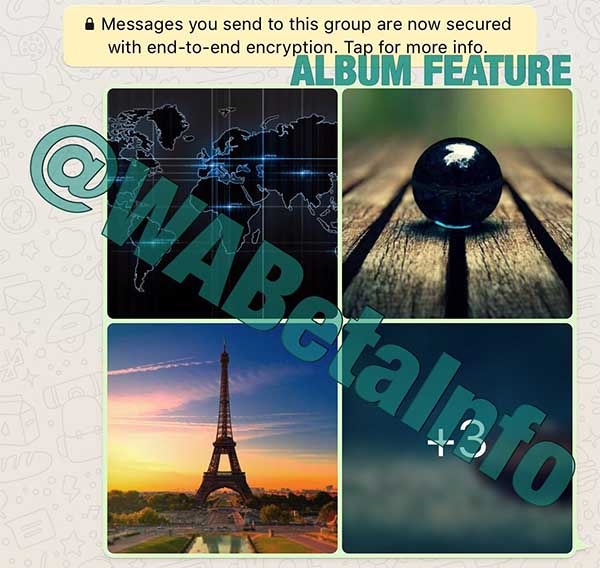 WhatsApp álbumes