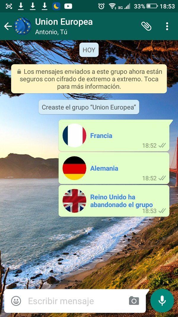 broma whatsapp reino unido