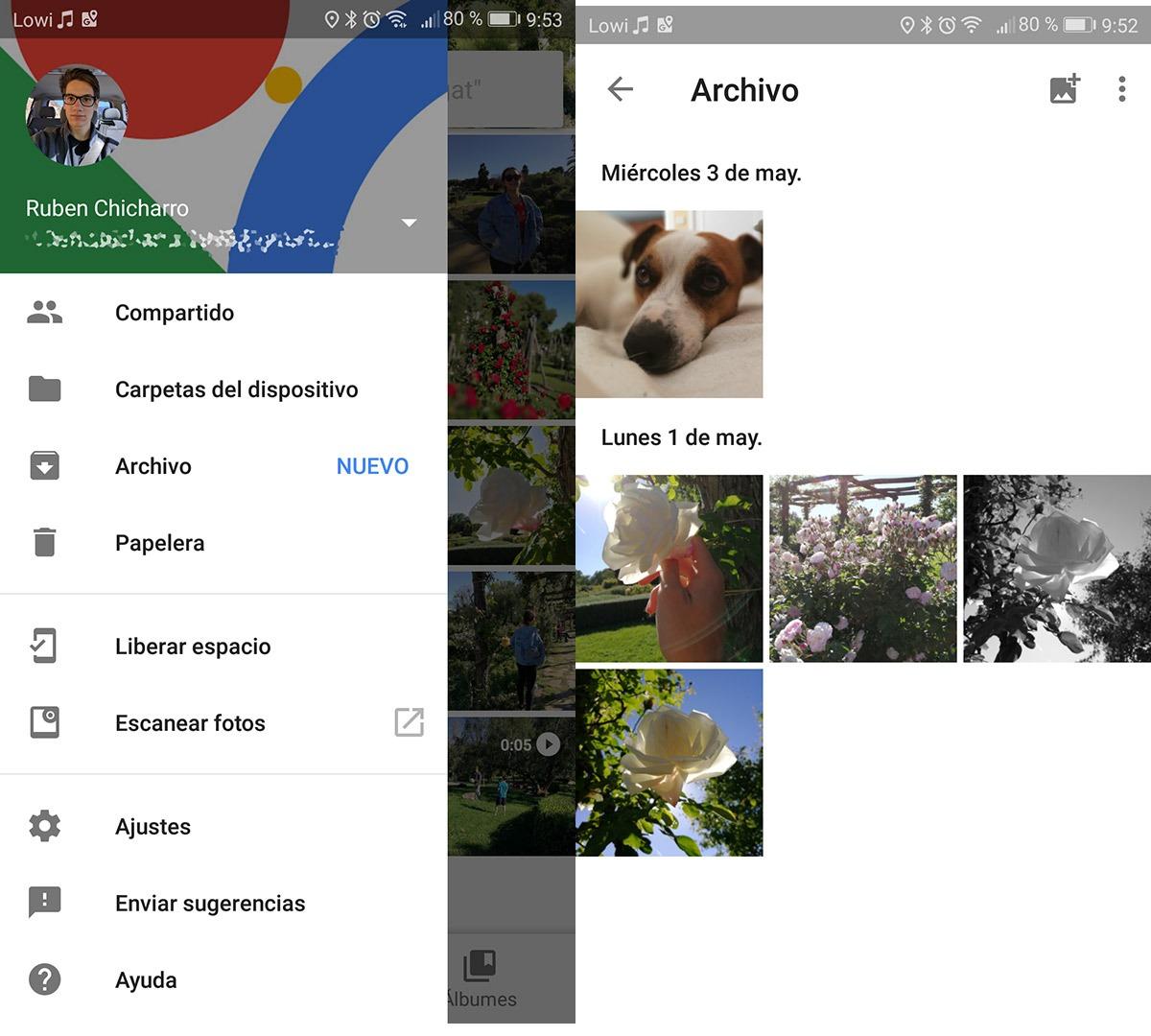 Google Fotos Archivo