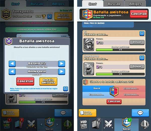 Clash Royale sistema de emparejamiento