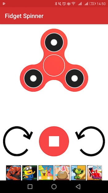 fidget spinner juego android