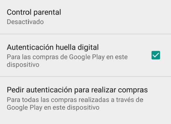 huella digital play store