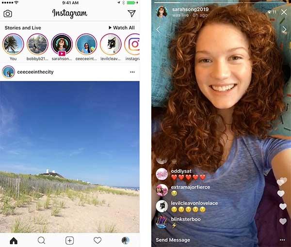 Instagram compartir directos
