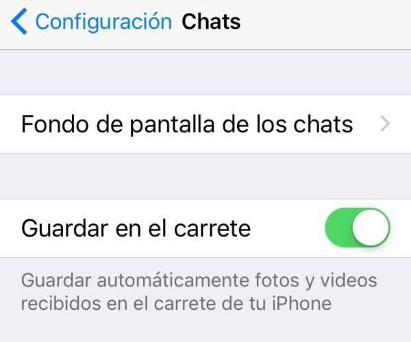 whatsapp guardar en carrete