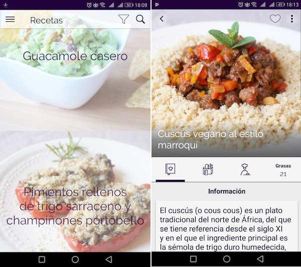 5 apps con recetas de cocina para aprender a cocinar Cocinar con 5 ingredientes