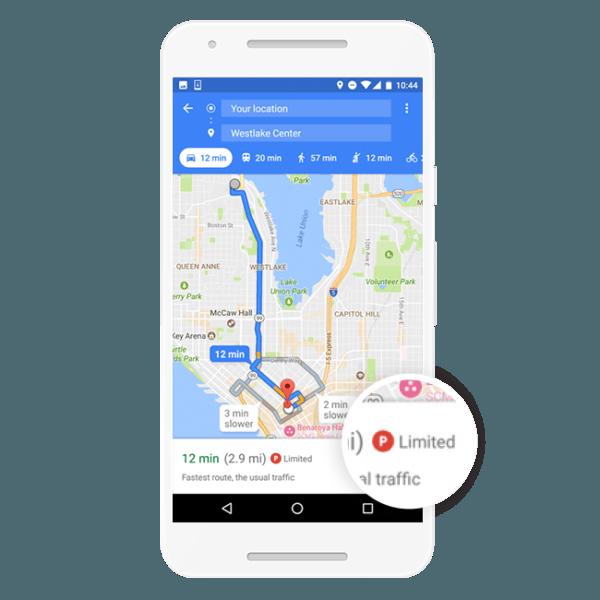 Google Maps ahora te ayuda a encontrar aparcamiento