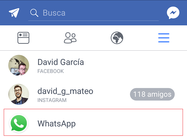 captura facebook whatsapp