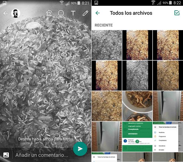 Cómo aplicar filtros a las fotos de WhatsApp 2