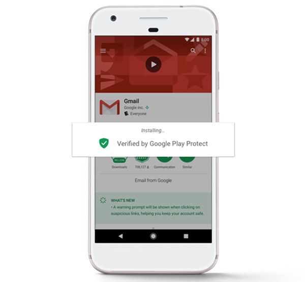 Google Play Protect escaneo de apps