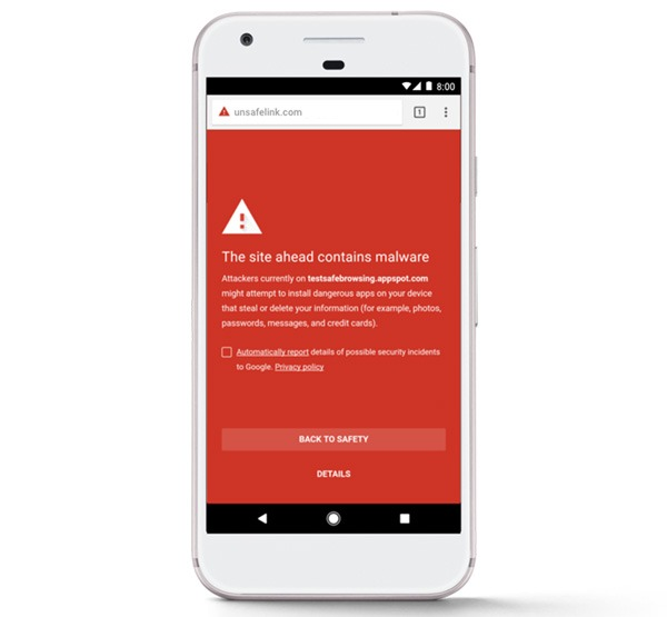 Google Play Protect Navegación Segura Chrome