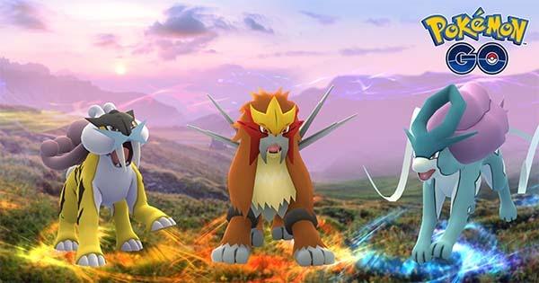 Cómo capturar Raikou, Entei y Suicune en Pokémon GO
