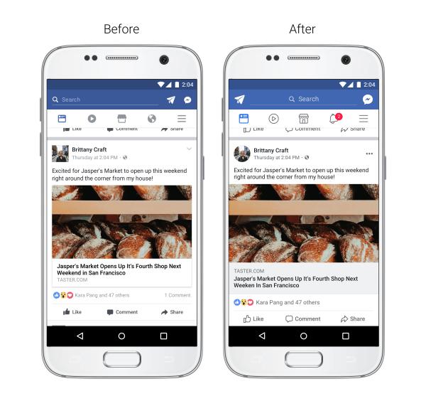 cambios facebook app