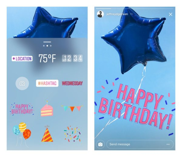 Cómo felicitar el cumpleaños en Instagram Stories