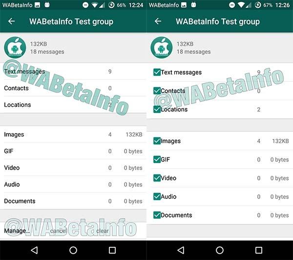 WhatsApp Android beta función de uso de almacenamiento