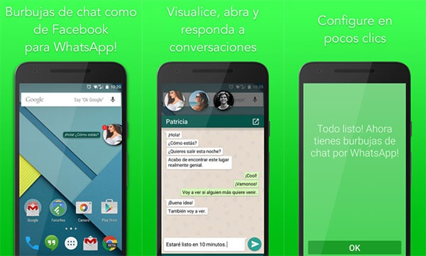 WhatsBubbles app para burbujas de chat