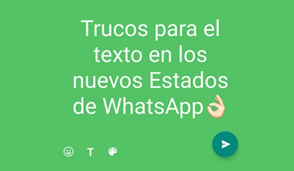 5 trucos de los nuevos Estados de WhatsApp de texto