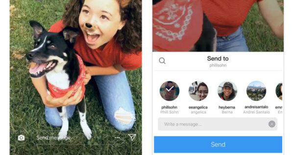 Cómo enviar Instagram Stories mediante mensajes directos