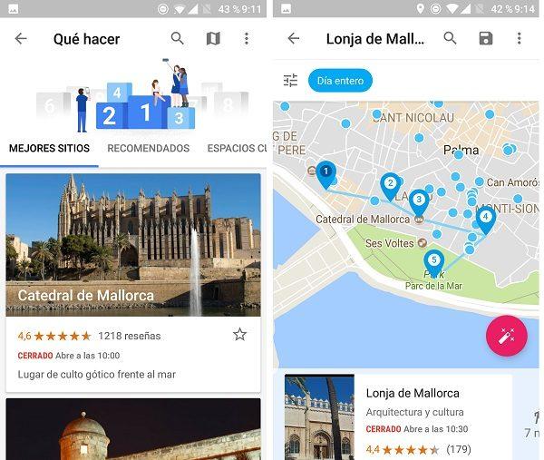 lugares recomendados google trips