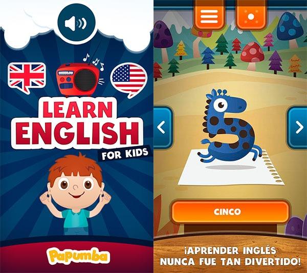 5 apps para aprender jugando Inglés para niños