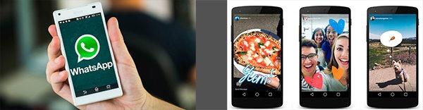 Estados de WhatsApp vs Instagram Stories, cara a cara