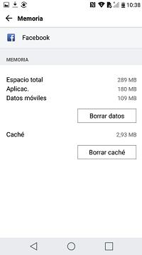 borrar datos