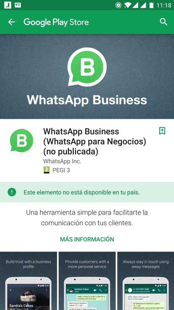 Cuidado con la aplicación falsa de WhatsApp Business en Google Play 1