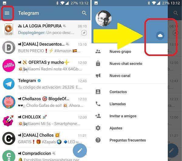 mandarse mensajes en telegram