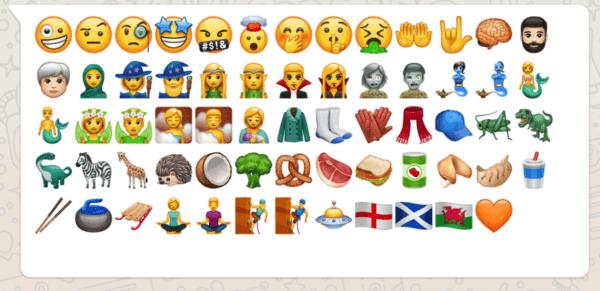 Estos son los 60 nuevos Emoji de WhatsApp