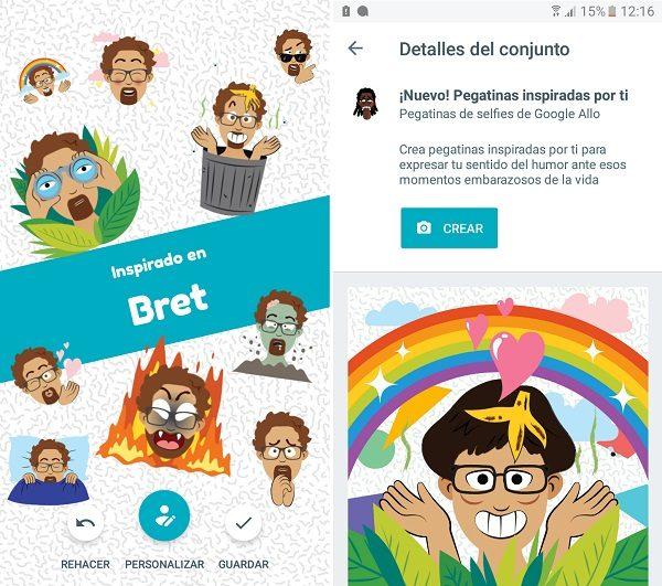 Cómo crear stickers con tu cara en Google Allo