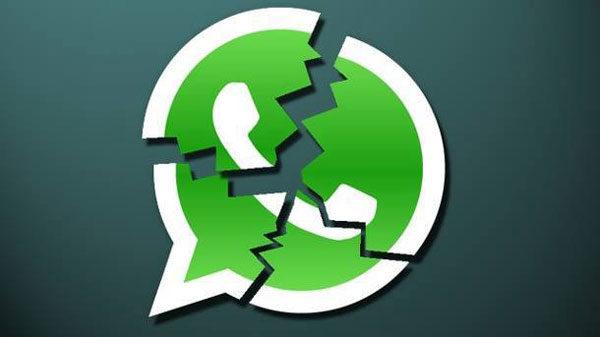 WhatsApp mensaje roto