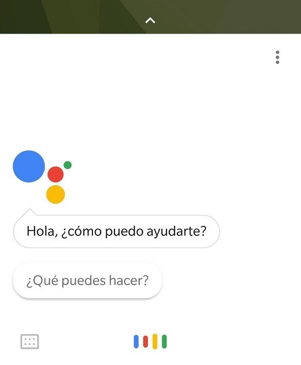 pantalla principal asistente de google