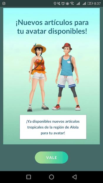 pokemon go accesorios tropicales