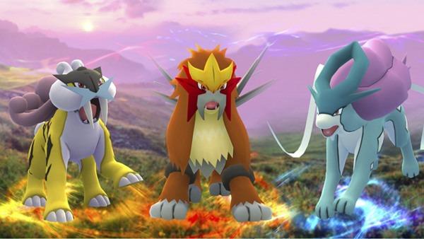 Perros Legendarios de Pokémon GO